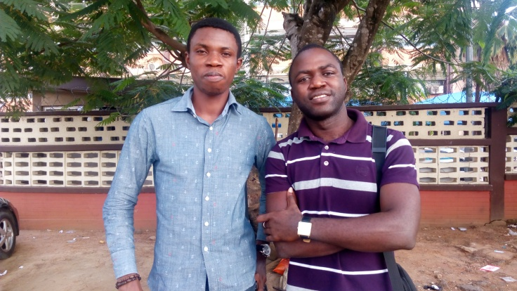 L-R: Grow360 writer, Ikhide with Joseph, initiator of the #HelpThisLadyLagos campaign on twitter