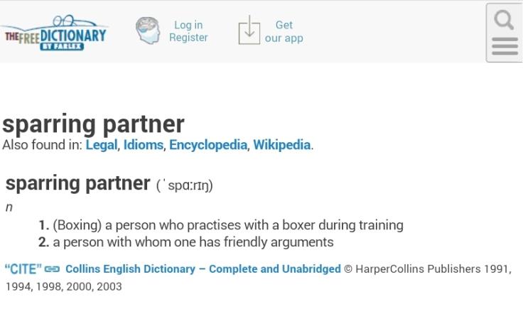 Sparring partner definition
